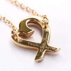 Tiffany & Co. 18K Rose Gold Loving Heart Pendant Necklace