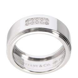 Tiffany & Co. Century Diamond Band 18K White Gold Ring Size EU 51