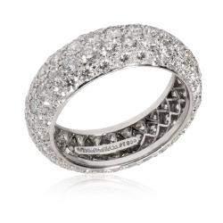Tiffany & Co. Etoile Band Diamond Platinum Ring Size EU 49