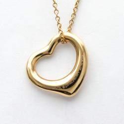 Tiffany & Co. Open Heart 18K Rose Gold Diamond Necklace