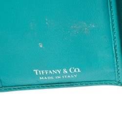 Tiffany & Co. Blue Leather Tri- Fold French Wallet