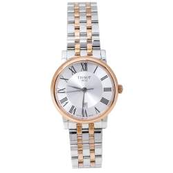 Tissot Silver Two-Tone Stainless Steel Carson Premium T122210A Women's Wristwatch 30 mm