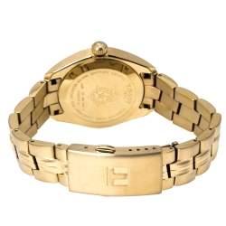 Tissot Silver Gold Tone Stainless Steel PR100 T101210A Women's Wristwatch 33 mm