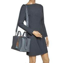 Tod's Grey Leather Medium Don Bauletto Gommino Bag