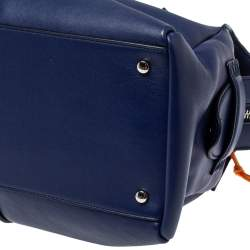 Tod's Navy Blue Leather D Styling Bowler Bag