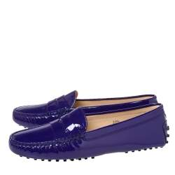 Tod's Purple Patent Leather Penny Loafers Size 38.5