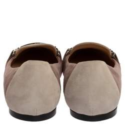 Tod's Two Tone Suede Pointed Toe Ballet Flats Size 37