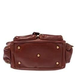 Tod's Brown Leather Multiple Pocket Satchel