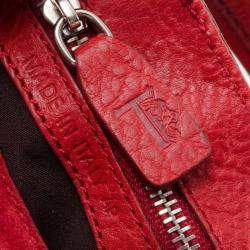 Tod's Red Suede Shoulder Bag