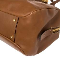 Tod's Tan Leather Front Pocket Satchel
