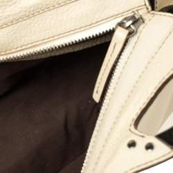 Tod's Cream Leather Top Handle Satchel