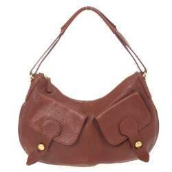 Tod's Brown Leather Benji Sacca Hobo