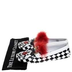 حذاء لوفرز تودز Gommino Cicus فرو وجلد متعدد الألوان مقاس 40