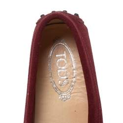 Tod's Red Suede Leather Penny Loafers Size 39