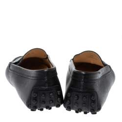 Tod's Black Leather Penny Loafers Size 36
