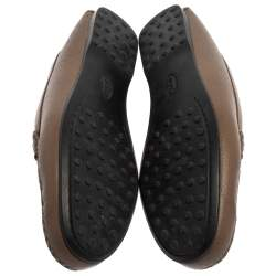 Tod's Brown Leather Horsebit Loafers Size 38.5