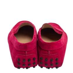 Tod's Pink Suede Penny Loafers Size 35