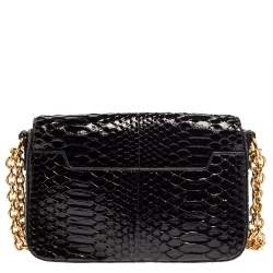 Tom Ford Black Python Natalia Shoulder Bag