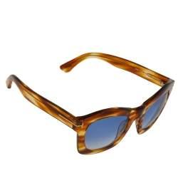 Tom Ford Blonde Havana / Grey Gradient TF431 Greta Sunglasses