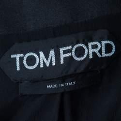جاكيت بليزر توم فورد بشراشيب أسود S