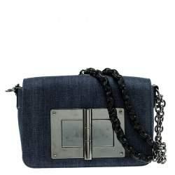 Tom Ford Blue Denim Natalia Crossbody Bag
