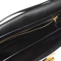 حقيبة كتف توم فورد ناتاليا كبيرة جلد سوداء