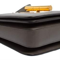 Tom Ford Grey Leather Medium Natalia Shoulder Bag