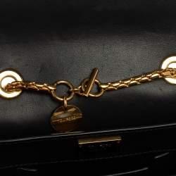 Tom Ford Metallic Gold Python Mini Sienna Chain Shoulder Bag