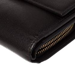 Tom Ford Dark Brown Leather Natalia French Wallet