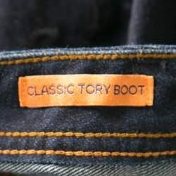Tory Burch Indigo Dark Wash Denim Classic Boot Cut Jeans M
