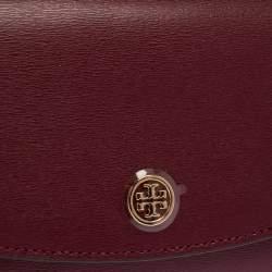 Tory Burch Burgundy Leather Robinson Wallet