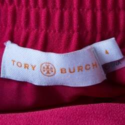 Tory Burch Red Madyn Crepe A Line Maxi Skirt S
