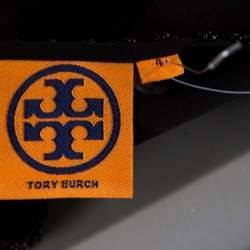 Tory Burch Black Silk Embellished Long Sleeve Natasha Tunic S