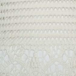 Tory burch Off White Crochet Knit Nerano Tank Dress M