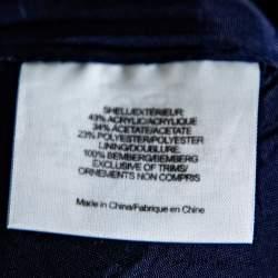 Tory Burch Navy Blue Jacquard A-Line Skirt S