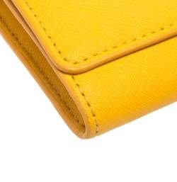 Tory Burch Mustard Leather Robinson Envelope Flap Wallet