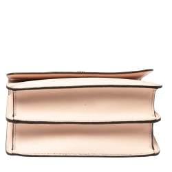Tory Burch Coral Pink Leather Flap Shoulder Bag