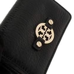Tory Burch Black Leather Robinson Card Holder