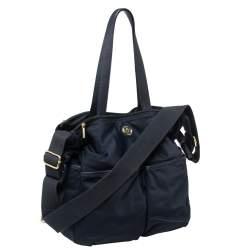 Tory Burch Navy Blue Nylon Dena Diaper Bag