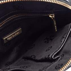 Tory Burch Black Leather Robinson Dome Satchel