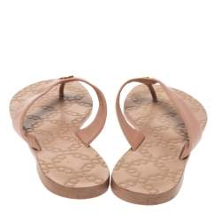 Tory Burch Beige Leather Monroe Thong Sandals Size 39