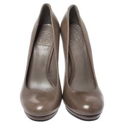 Tory Burch Brown Leather Pumps Size 38