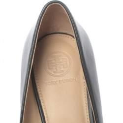 Tory Burch Black Leather Benton Pumps Size 37.5
