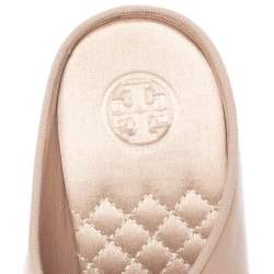 Tory Burch Nude Pink Leather Clara Mule Sandals Size 39.5