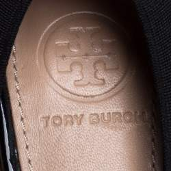 Tory Burch Black Patent Leather and Leather Jolie Pumps Size 36