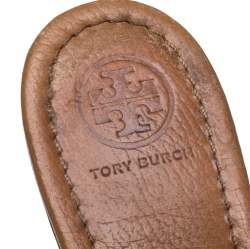 Tory Burch Brown Leather Miller Flats Size 40