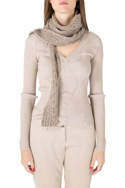 Marc Jacobs Beige Marled Cashmere Rib Knit Slim Muffler