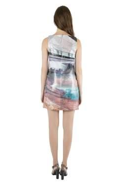 Mary Katrantzou Multicolor Lurex Insert Jacquard Desert Walker Sleeveless Lupin Dress S