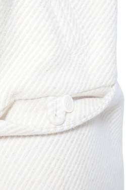 Tory Burch Cream Lurex Insert Fur Collar Detail Ivan Long Coat S