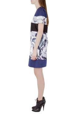 Prabal Gurung Multicolor Brush Stroke Printed Paneled Shift Dress S